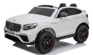 """Kinderfahrzeug """"Mercedes GLC63S"""" – Lizenziert – Doppelsitzer – 12V10AH Akku,4 Motoren+ 2,4Ghz+Ledersitz"""