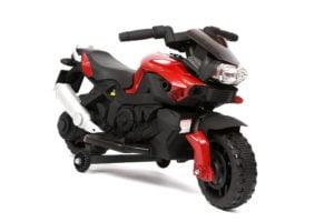 """Elektro Kinder Motorrad – Renn Motorrad """"918"""" – mit Stützrädern"""