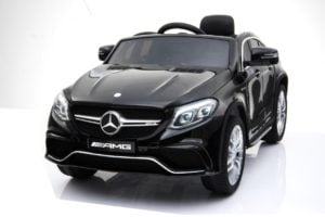 "Kinderfahrzeug – ""Mercedes GLE63 AMG"" – Lizenziert – 12V7AH Akku,2 Motoren- 2,4Ghz Fernsteuerung, MP3+Ledersitz+EVA"