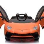 "Elektro Kinderfahrzeug lizenziert ""Lamborghini Aventador SVJ"" mit 2 Motoren und Fernsteuerung - O-22"
