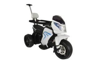 """Elektro Kinder Motorrad """"108B"""" – Dreirad mit Schiebe Stange und Pedalen"""