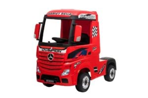 "Kinderfahrzeug -""Mercedes Actros"" – Lizenziert – 2x 12V7AH, 4 Motoren- 2,4Ghz Fernsteuerung, MP3, Ledersitz+EVA"