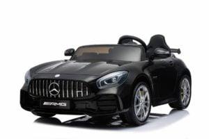 "Kinderfahrzeug  ""Mercedes GT R Doppelsitzer"" – Lizenziert – 12V10AH, 2 Motoren- 2,4Ghz Fernsteuerung, MP3, Ledersitz+EVA"